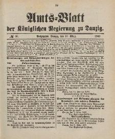 Amts-Blatt der Königlichen Regierung zu Danzig, 10. März 1900, Nr. 10