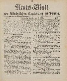 Amts-Blatt der Königlichen Regierung zu Danzig, 17. März 1900, Nr. 11
