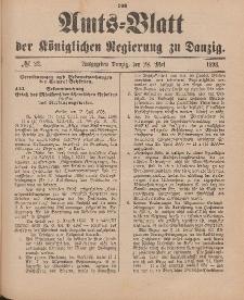 Amts-Blatt der Königlichen Regierung zu Danzig, 28. Mai 1898, Nr. 22
