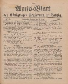 Amts-Blatt der Königlichen Regierung zu Danzig, 4. Juni 1898, Nr. 23