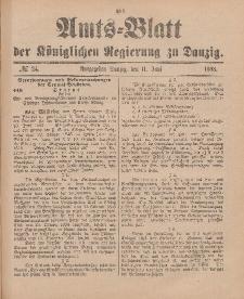 Amts-Blatt der Königlichen Regierung zu Danzig, 11. Juni 1898, Nr. 24