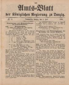 Amts-Blatt der Königlichen Regierung zu Danzig, 2. Juli 1898, Nr. 27