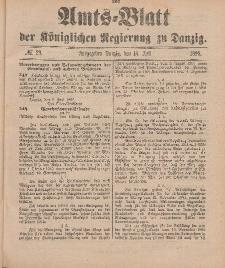 Amts-Blatt der Königlichen Regierung zu Danzig, 16. Juli 1898, Nr. 29