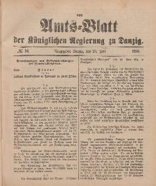 Amts-Blatt der Königlichen Regierung zu Danzig, 23. Juli 1898, Nr. 30