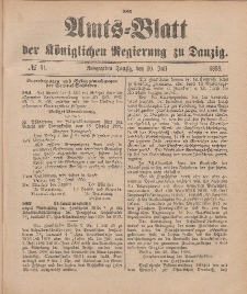 Amts-Blatt der Königlichen Regierung zu Danzig, 30. Juli 1898, Nr. 31