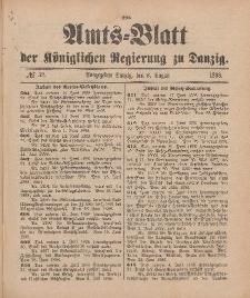 Amts-Blatt der Königlichen Regierung zu Danzig, 6. August 1898, Nr. 32