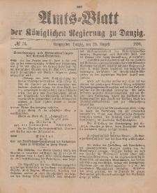 Amts-Blatt der Königlichen Regierung zu Danzig, 20. August 1898, Nr. 34