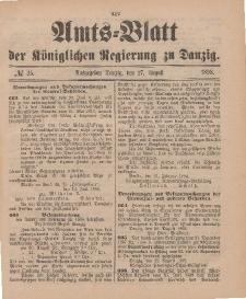 Amts-Blatt der Königlichen Regierung zu Danzig, 27. August 1898, Nr. 35