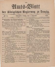 Amts-Blatt der Königlichen Regierung zu Danzig, 3. September 1898, Nr. 36