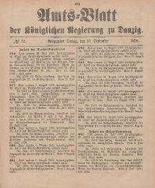 Amts-Blatt der Königlichen Regierung zu Danzig, 10. September 1898, Nr. 37