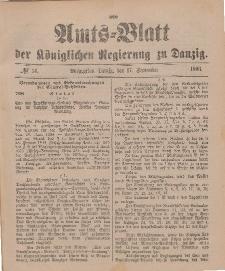 Amts-Blatt der Königlichen Regierung zu Danzig, 17. September 1898, Nr. 38