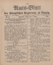 Amts-Blatt der Königlichen Regierung zu Danzig, 1. Oktober 1898, Nr. 40