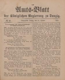 Amts-Blatt der Königlichen Regierung zu Danzig, 15. Oktober 1898, Nr. 42