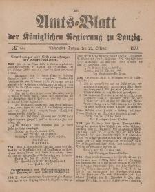 Amts-Blatt der Königlichen Regierung zu Danzig, 29. Oktober 1898, Nr. 44