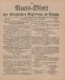 Amts-Blatt der Königlichen Regierung zu Danzig, 5. November 1898, Nr. 45