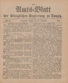Amts-Blatt der Königlichen Regierung zu Danzig, 12. November 1898, Nr. 46