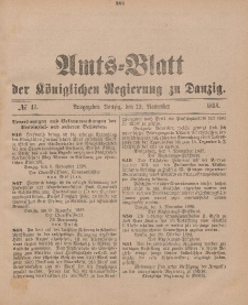 Amts-Blatt der Königlichen Regierung zu Danzig, 19. November 1898, Nr. 47
