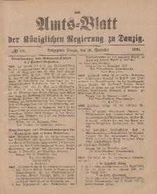 Amts-Blatt der Königlichen Regierung zu Danzig, 26. November 1898, Nr. 48