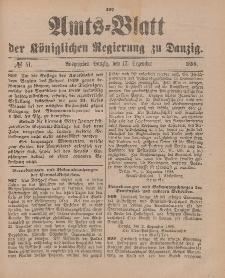 Amts-Blatt der Königlichen Regierung zu Danzig, 17. Dezember 1898, Nr. 51