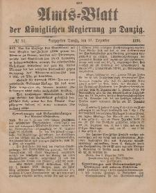 Amts-Blatt der Königlichen Regierung zu Danzig, 24. Dezember 1898, Nr. 52
