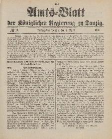 Amts-Blatt der Königlichen Regierung zu Danzig, 7. April 1900, Nr. 14