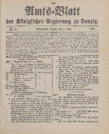 Amts-Blatt der Königlichen Regierung zu Danzig, 5. Mai 1900, Nr. 18
