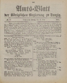 Amts-Blatt der Königlichen Regierung zu Danzig, 12. Mai 1900, Nr. 19