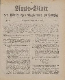 Amts-Blatt der Königlichen Regierung zu Danzig, 19. Mai 1900, Nr. 20