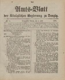 Amts-Blatt der Königlichen Regierung zu Danzig, 2. Juni 1900, Nr. 22