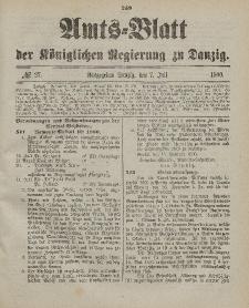 Amts-Blatt der Königlichen Regierung zu Danzig, 7. Juli 1900, Nr. 27