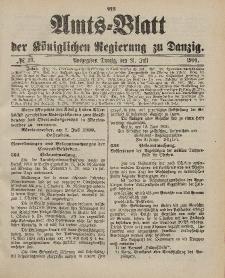 Amts-Blatt der Königlichen Regierung zu Danzig, 21. Juli 1900, Nr. 29