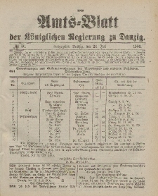 Amts-Blatt der Königlichen Regierung zu Danzig, 28. Juli 1900, Nr. 30