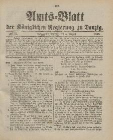 Amts-Blatt der Königlichen Regierung zu Danzig, 4. August 1900, Nr. 31