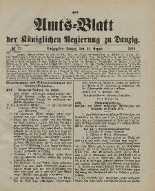 Amts-Blatt der Königlichen Regierung zu Danzig, 11. August 1900, Nr. 32