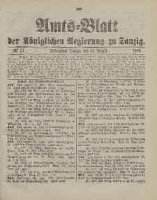 Amts-Blatt der Königlichen Regierung zu Danzig, 18. August 1900, Nr. 33