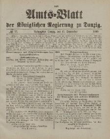 Amts-Blatt der Königlichen Regierung zu Danzig, 15. September 1900, Nr. 37
