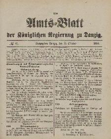 Amts-Blatt der Königlichen Regierung zu Danzig, 13. Oktober 1900, Nr. 41