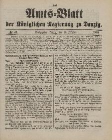 Amts-Blatt der Königlichen Regierung zu Danzig, 20. Oktober 1900, Nr. 42