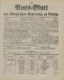 Amts-Blatt der Königlichen Regierung zu Danzig, 27. Oktober 1900, Nr. 43