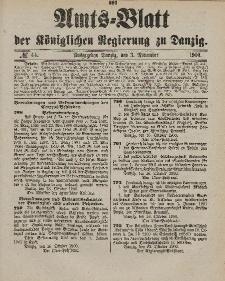 Amts-Blatt der Königlichen Regierung zu Danzig, 3. November 1900, Nr. 44