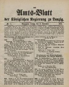 Amts-Blatt der Königlichen Regierung zu Danzig, 10. November 1900, Nr. 45