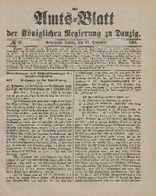 Amts-Blatt der Königlichen Regierung zu Danzig, 24. November 1900, Nr. 47