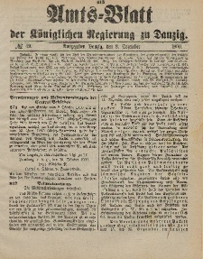 Amts-Blatt der Königlichen Regierung zu Danzig, 8. Dezember 1900, Nr. 49