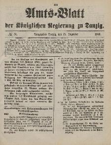 Amts-Blatt der Königlichen Regierung zu Danzig, 15. Dezember 1900, Nr. 50