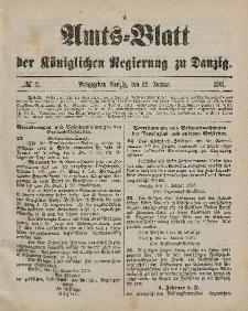 Amts-Blatt der Königlichen Regierung zu Danzig, 12. Januar 1901, Nr. 2