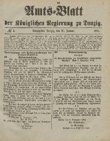 Amts-Blatt der Königlichen Regierung zu Danzig, 26. Januar 1901, Nr. 4