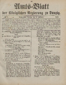 Amts-Blatt der Königlichen Regierung zu Danzig, 2. Februar 1901, Nr. 5