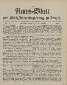 Amts-Blatt der Königlichen Regierung zu Danzig, 29. Dezember 1900, Nr. 52