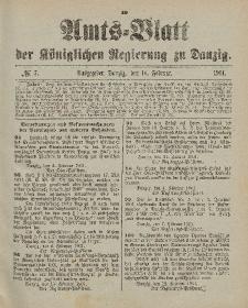 Amts-Blatt der Königlichen Regierung zu Danzig, 16. Februar 1901, Nr. 7