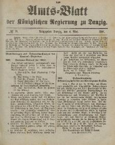 Amts-Blatt der Königlichen Regierung zu Danzig, 4. Mai 1901, Nr. 18
